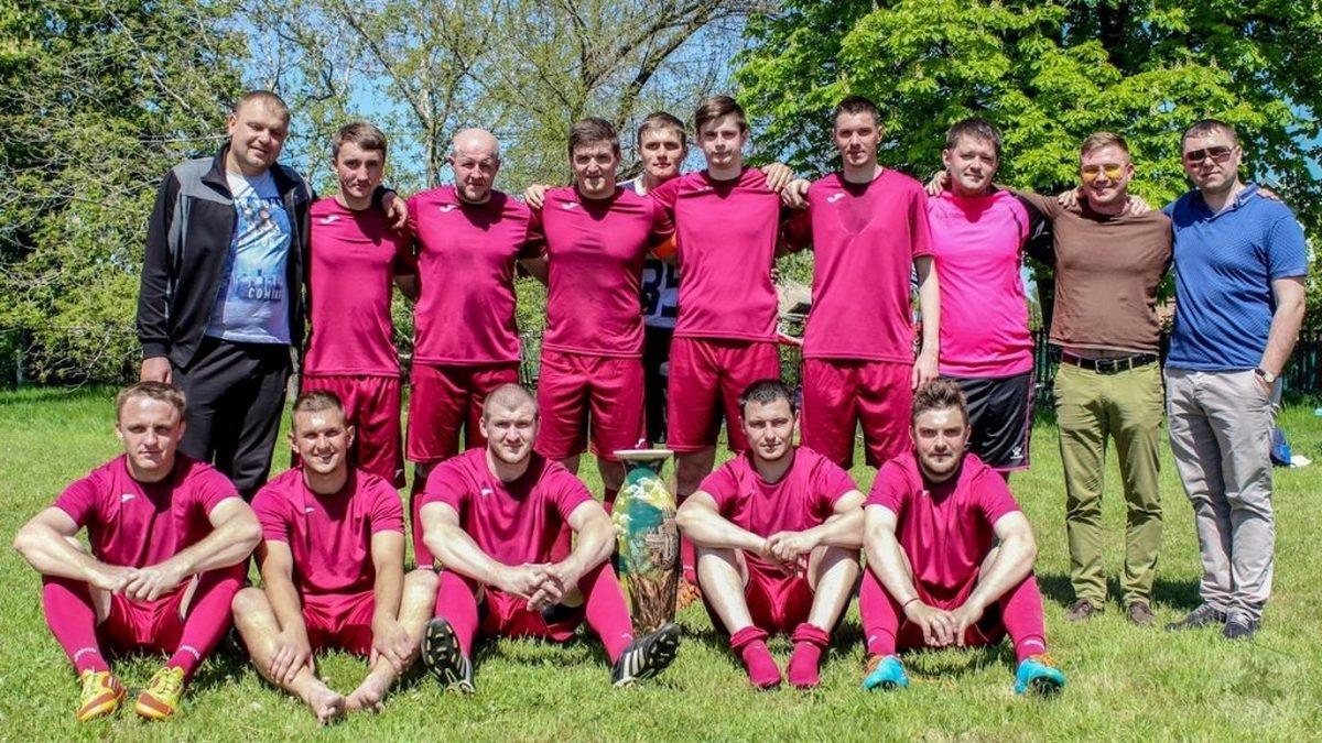 Команда победитель футбольных соревнований «Єдність»