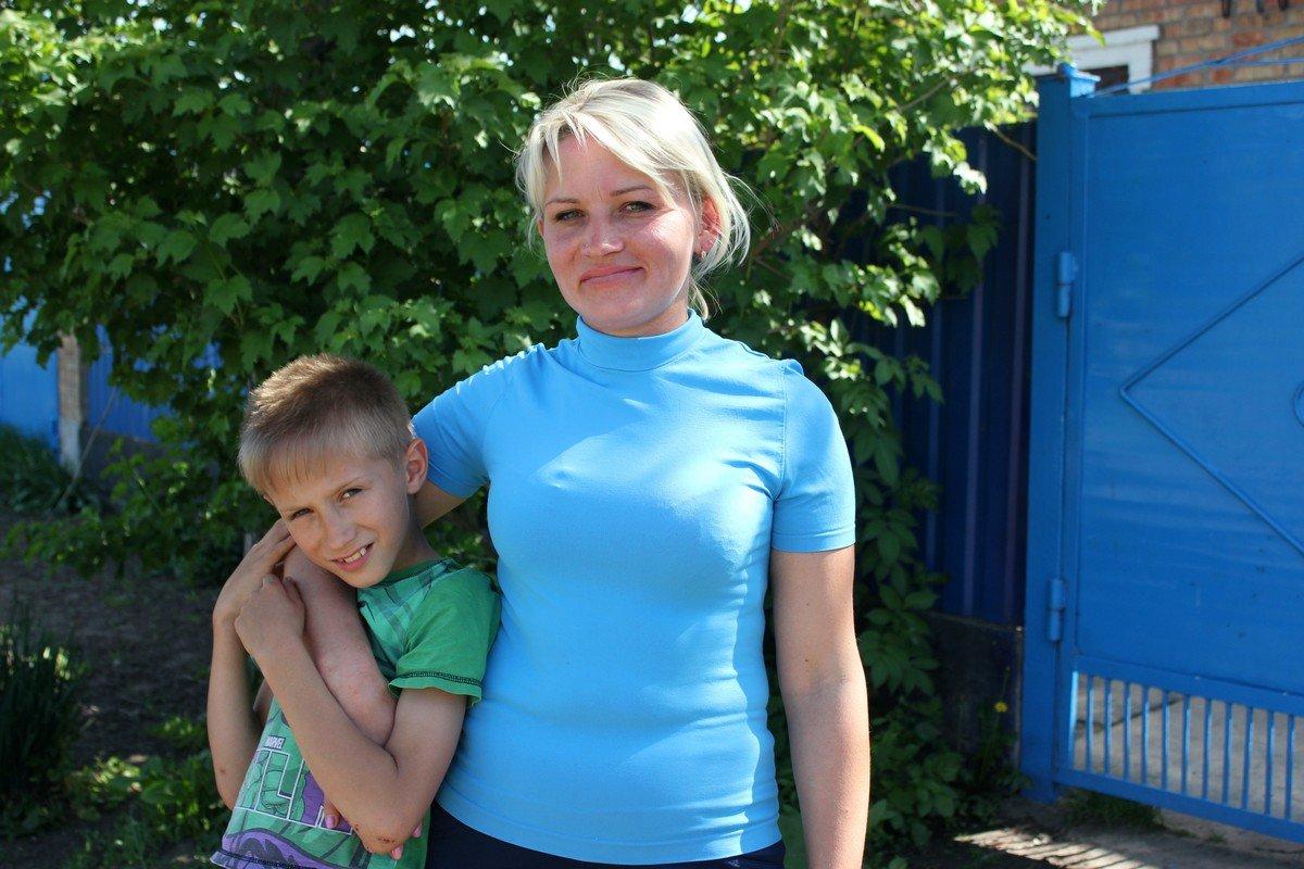 Юлия Романовская с сыном
