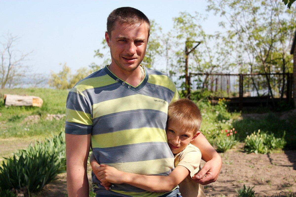 Владимир Романовский вместе с сыном