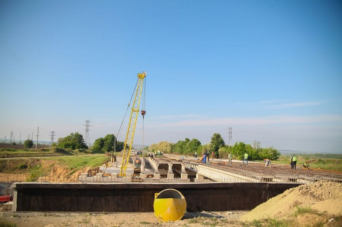 Строительство второй очереди объездной вокруг Днепра идет полным ходом
