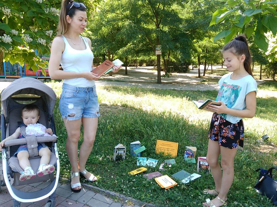Участниками акции стали посетители парка, которые прогуливались неподалеку