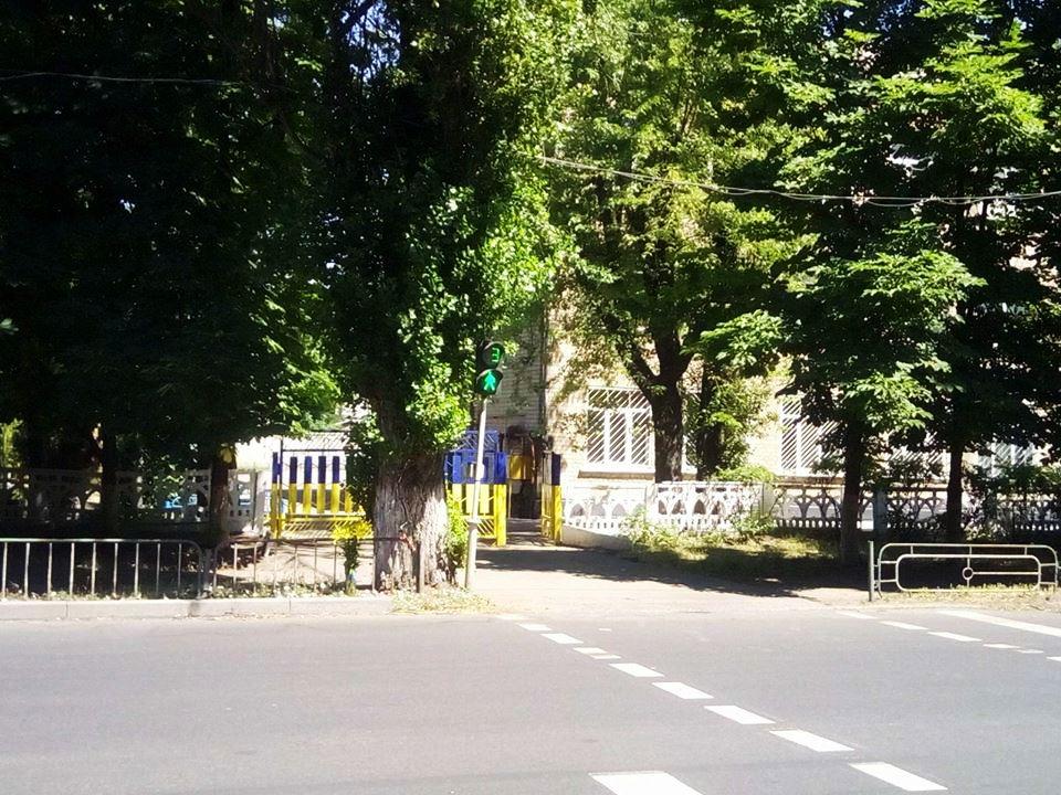 Регулируемый пешеходный переход около школы № 2