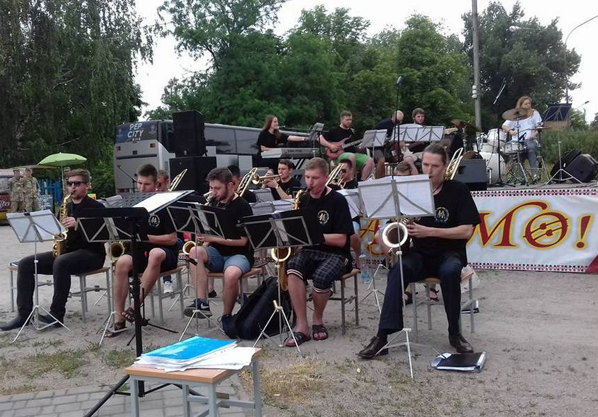 В парке Победы сыграли джаз львовские музыканты