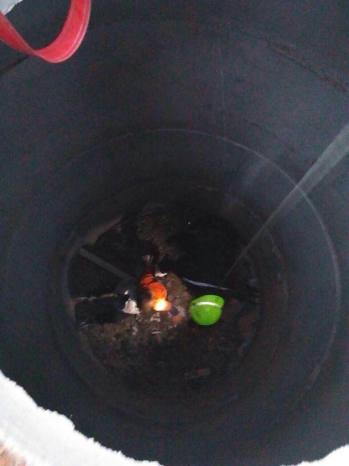 Глубина колодца 4 метра