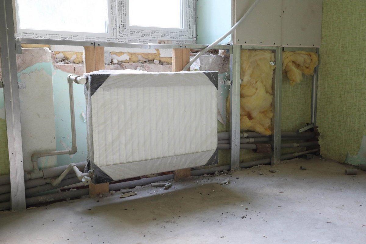 Установили систему отопления