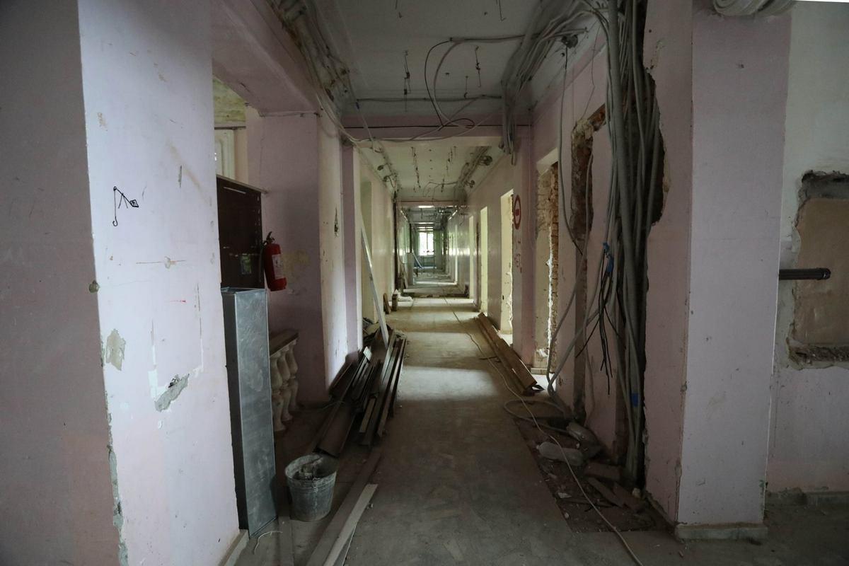 Возможно, в этом году подрядчик успеет завершить реконструкцию здания