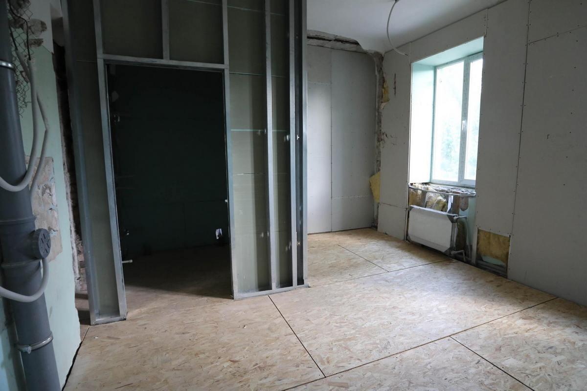 В здании поменяли канализацию и электрическую проводку