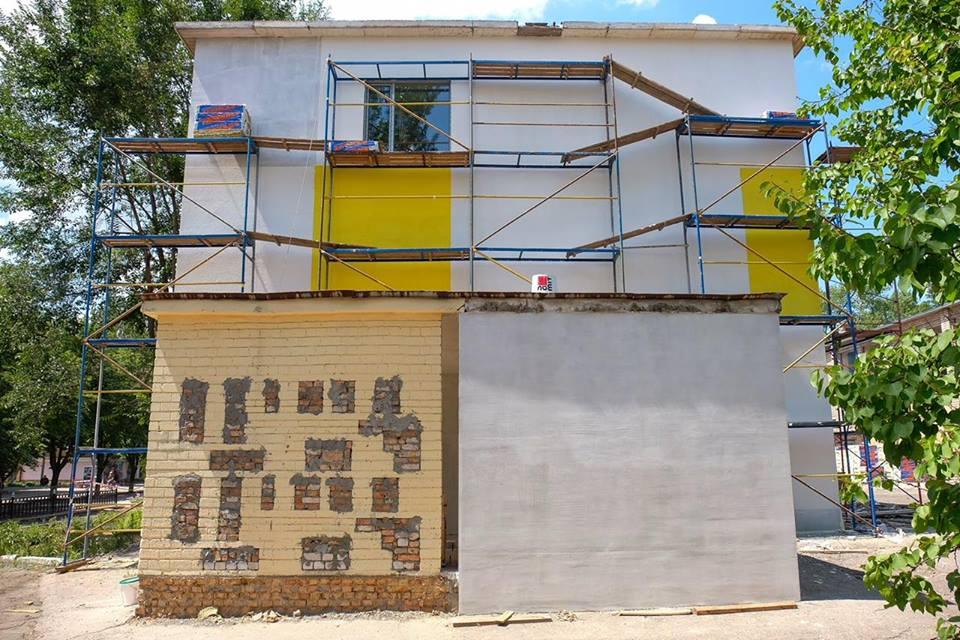 В Покрове продолжается реконструкцияучебно-воспитательного комплекса