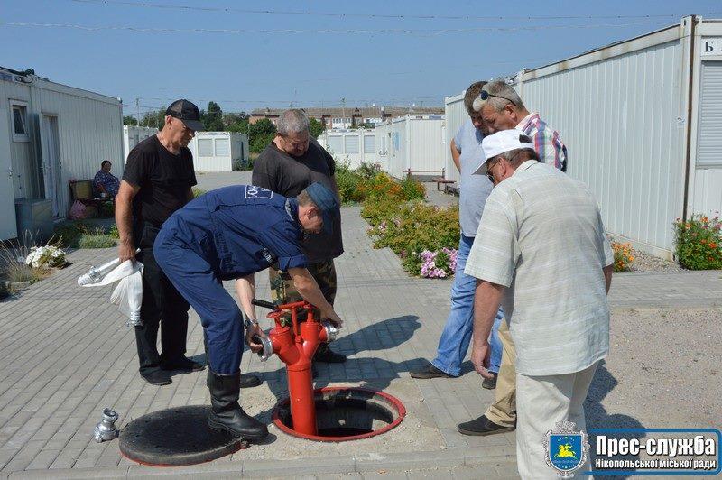 В Никопольском модульном городке усилили безопасность