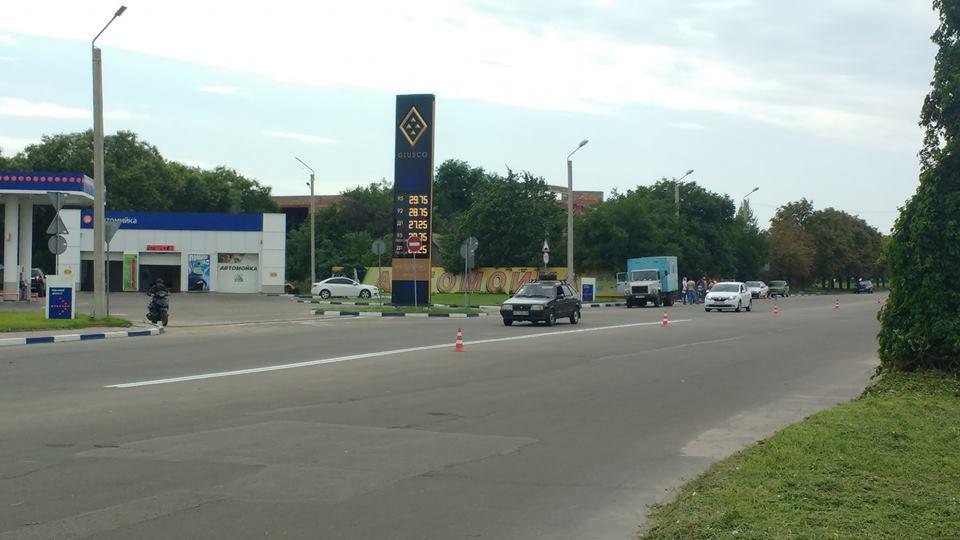 Пробный запуск разметочной машины на улице Первомайской