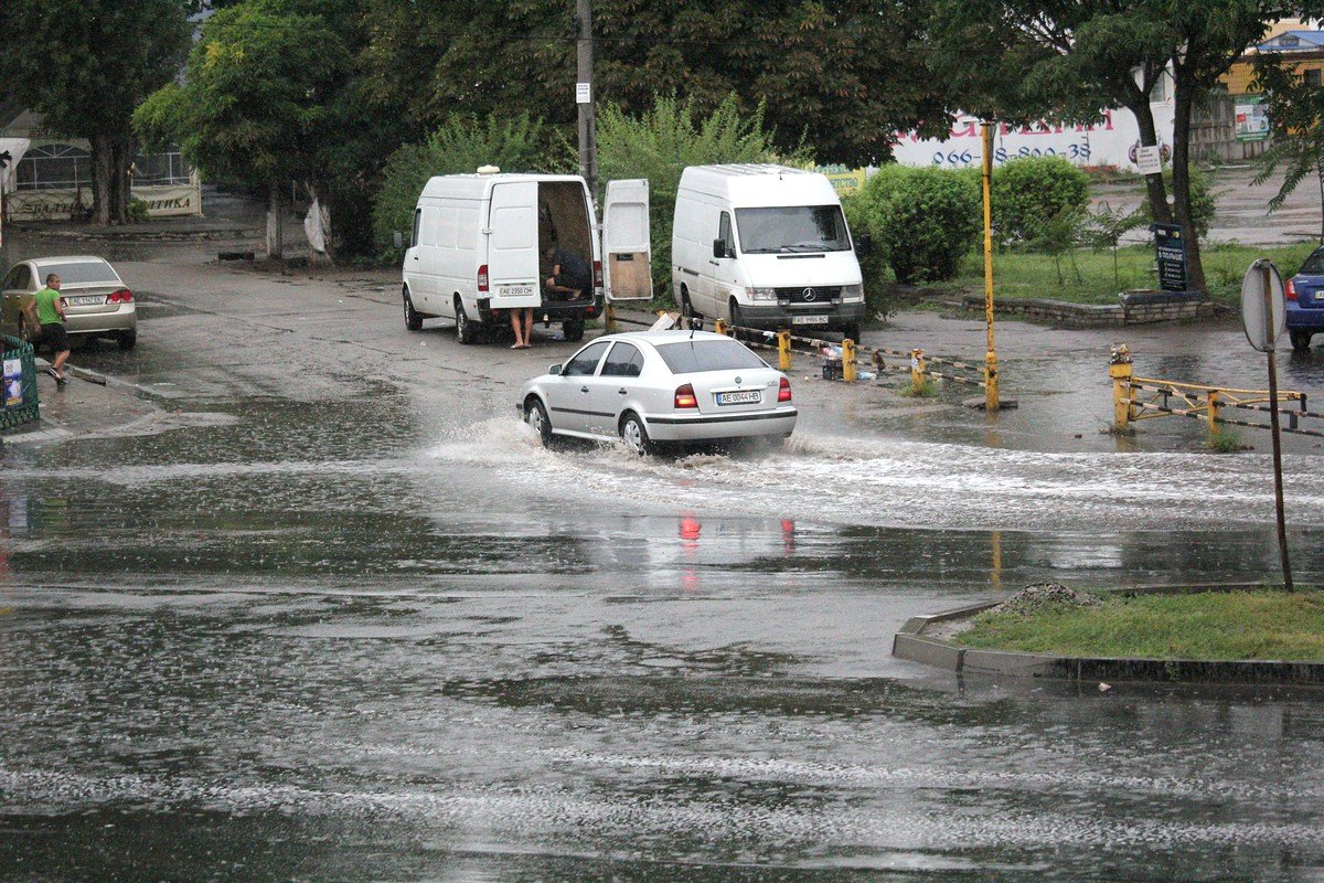 Никополь во время дождя