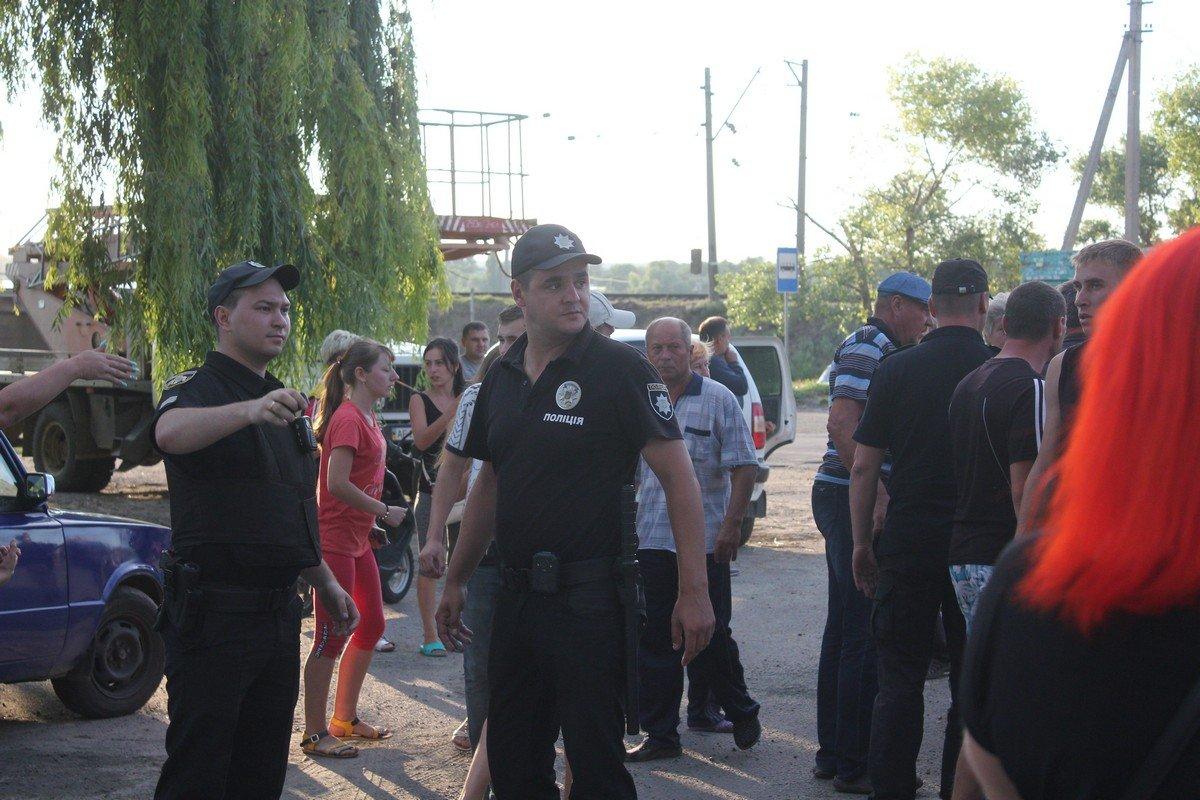 Полиция на месте события