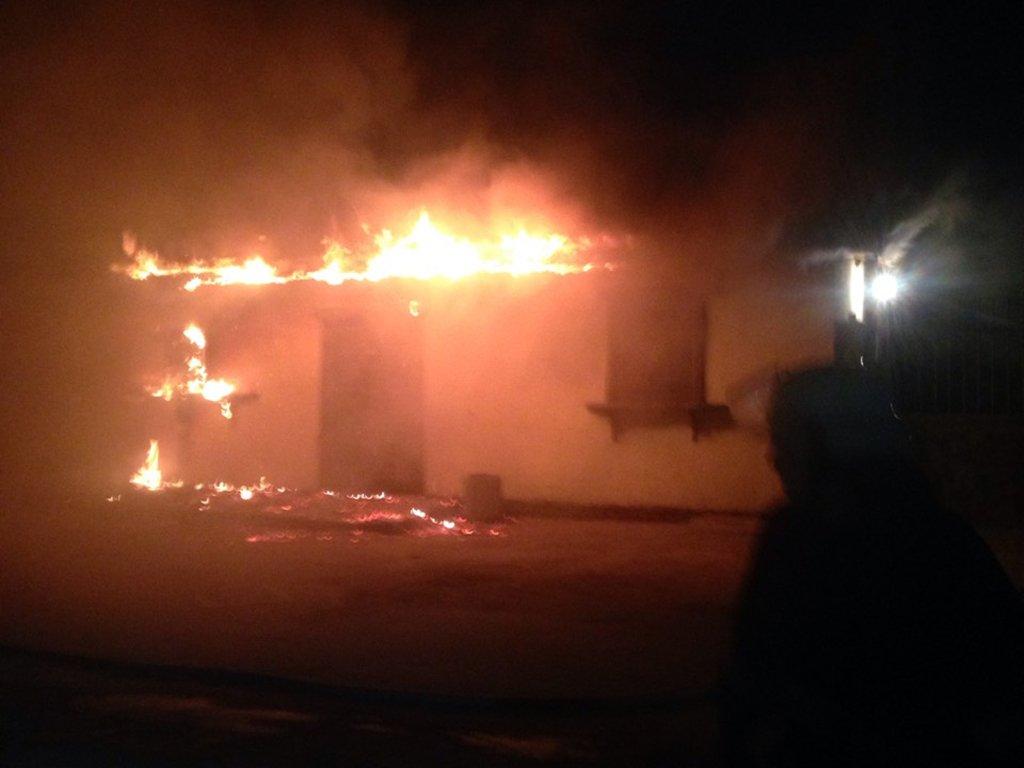 В Никополе загорелся магазин на улице Лесная