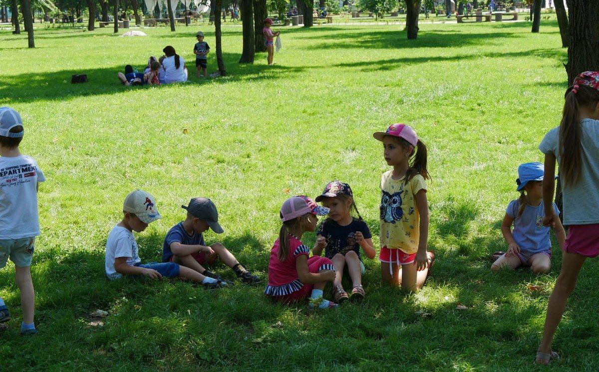 В парке много места для семейного отдыха