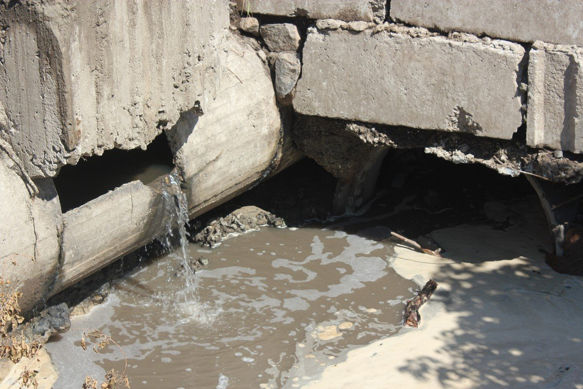 Ливнеприемник не справился с большим объемом сточных вод