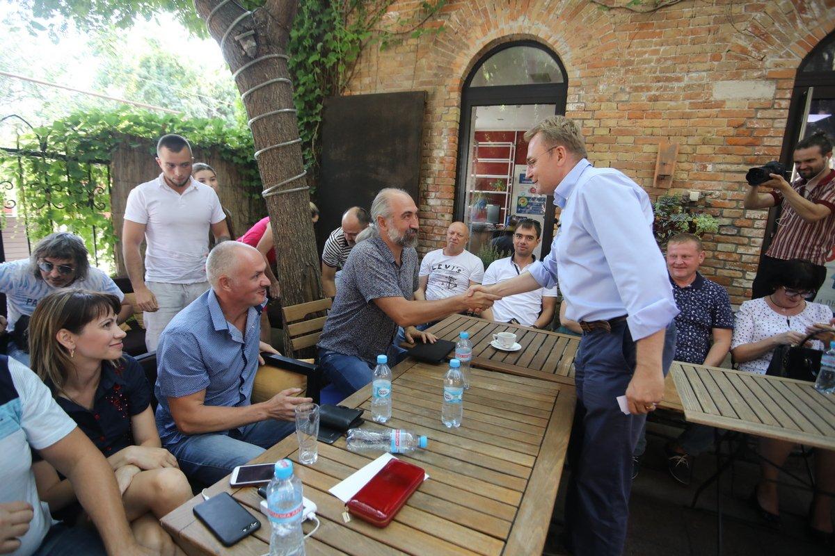 Під час зустрічі з підприємцями міста