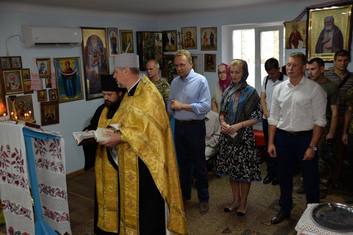 Молебен за Україну у храмі Святого Праведного Петра Калнишевського (УПЦ КП)