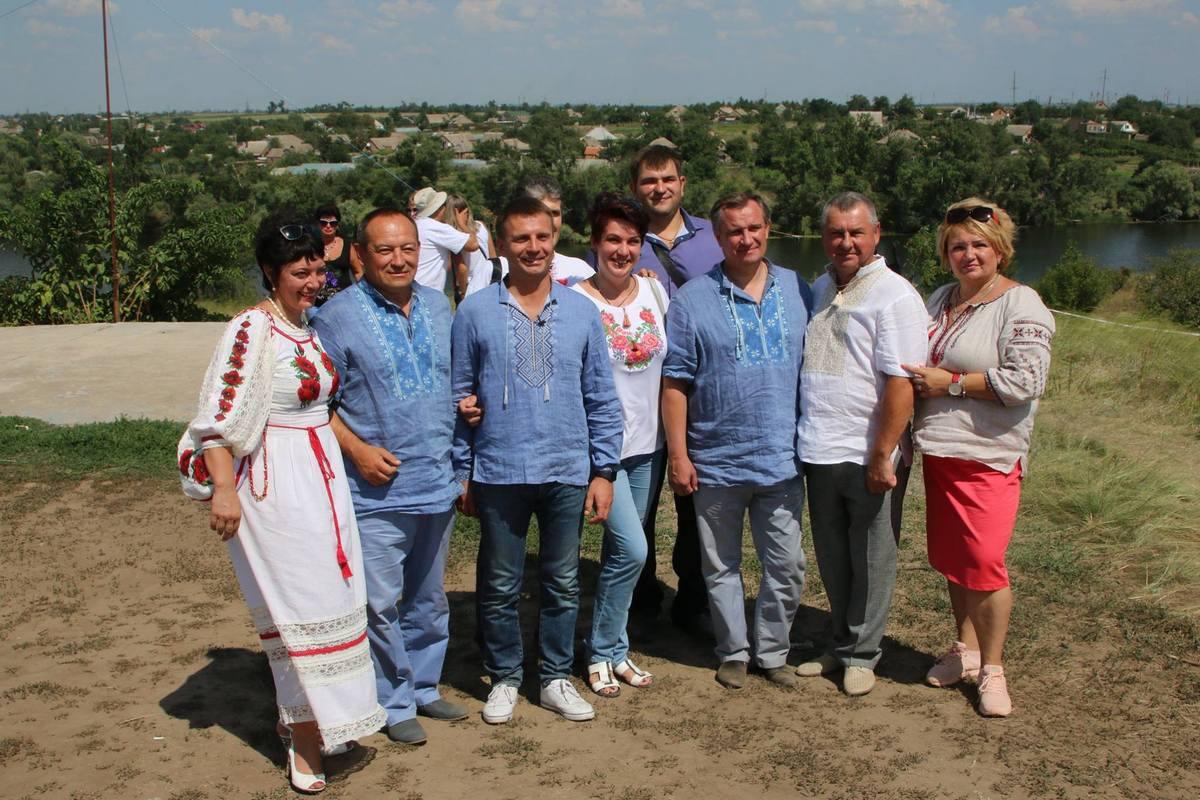 Руководство области, района и Никополя