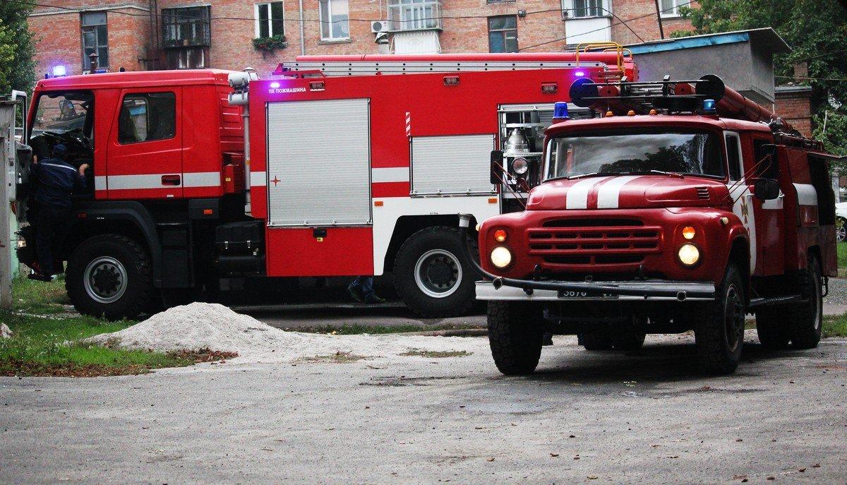 Пожарная техника в работе
