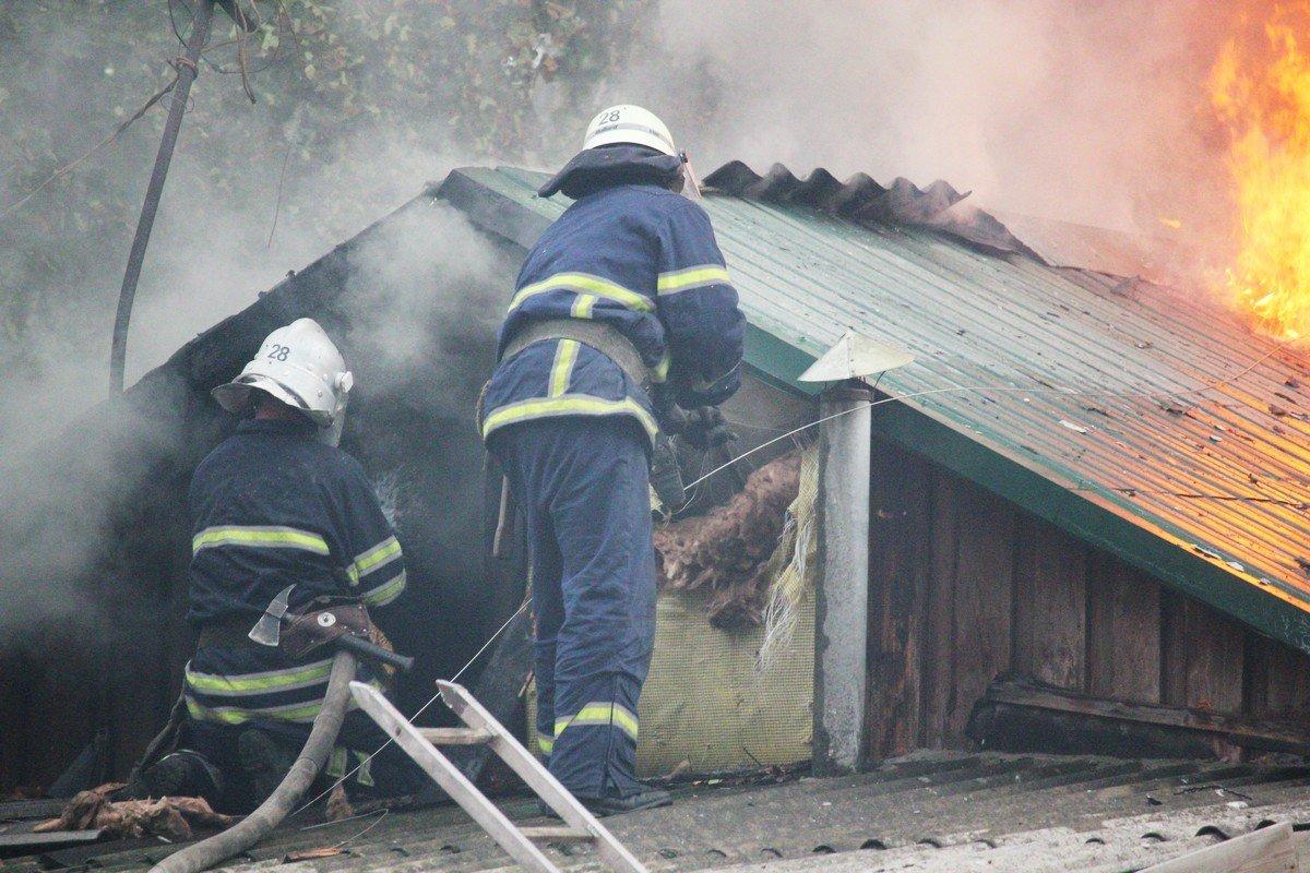 Реальный пожар на проспекте Трубников