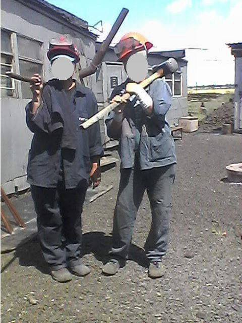 Заключенные работали на шлаковых отвалах НЗФ