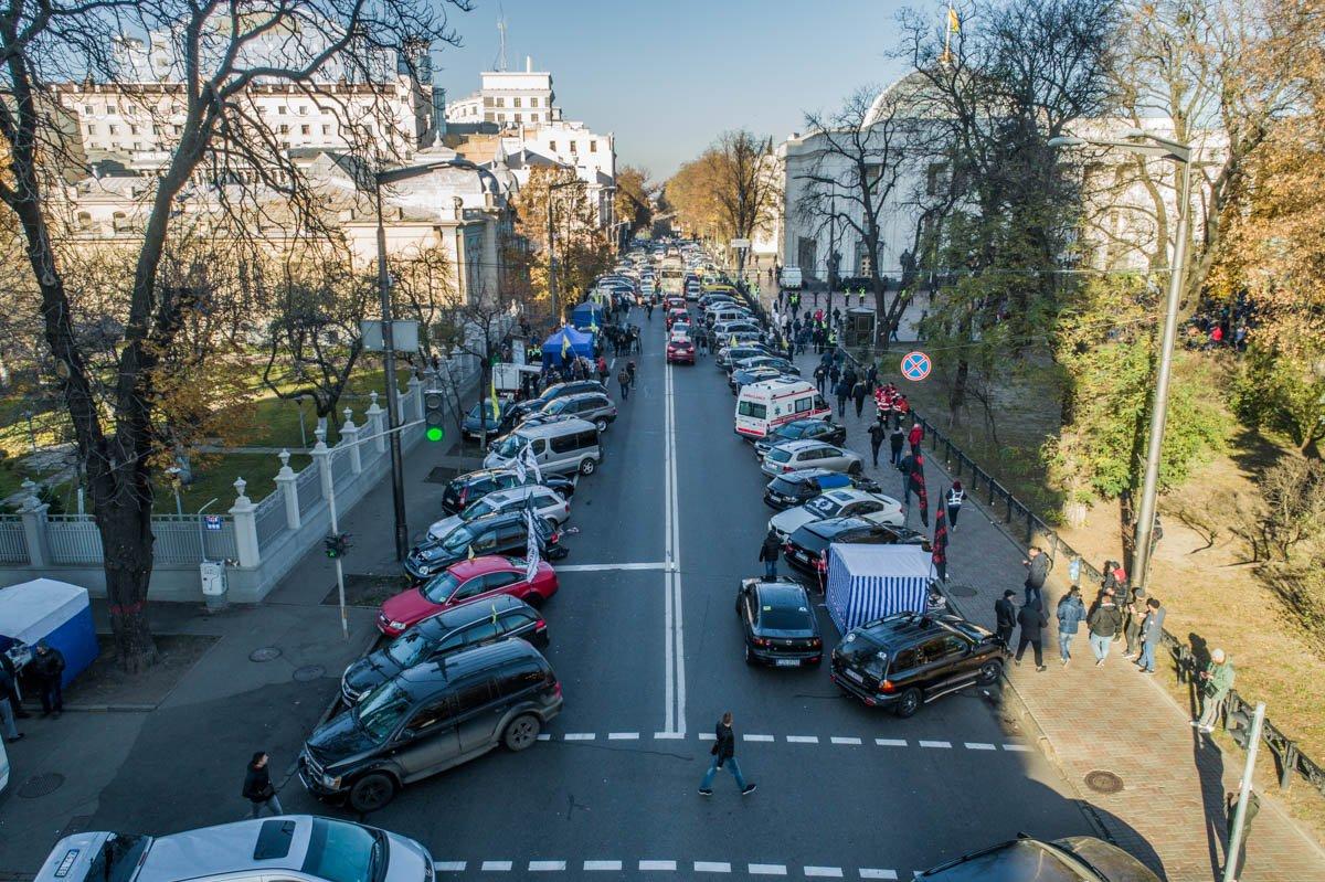 Митингующие выступают за увольнение главы «Укртрансбезопасности» Михаила Ноняка