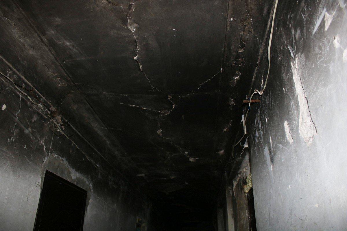 Следы от бывшего пожара