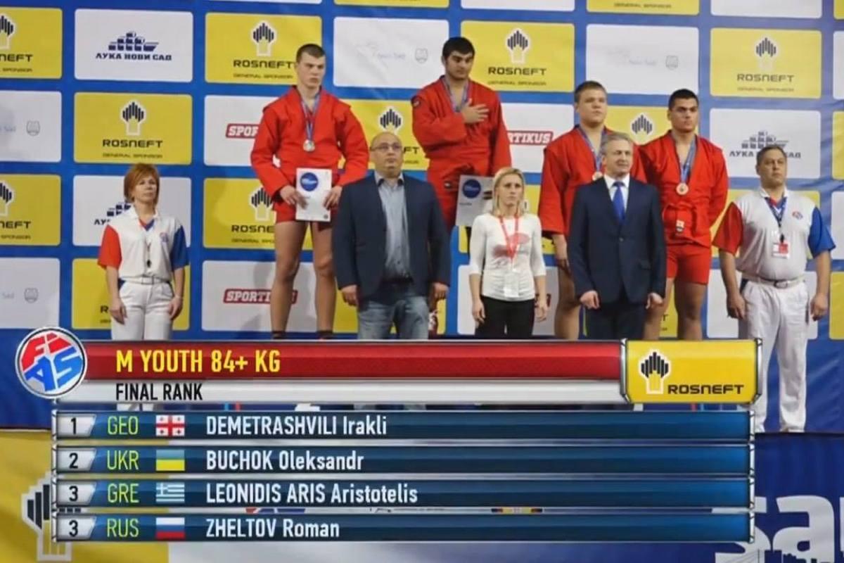 Александр Бучок завоевал серебро на Чемпионате мира по самбо среди кадетов