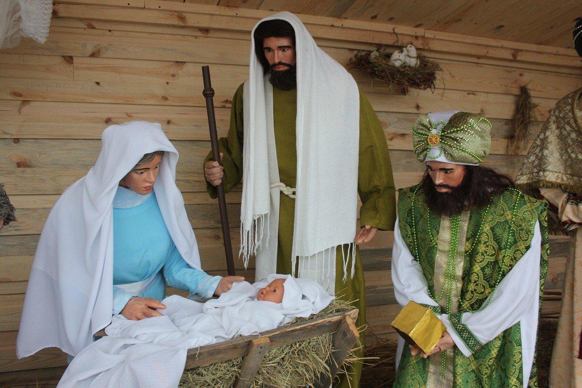 Воспроизведение сцены Рождества Христова