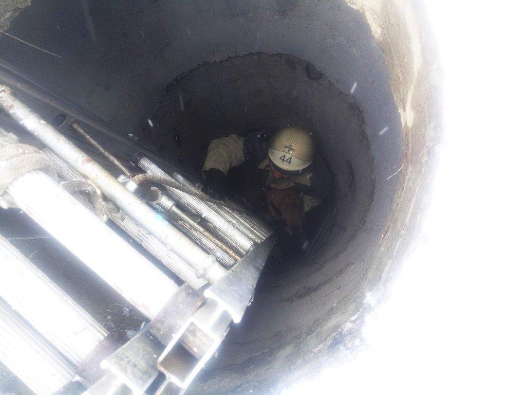 В Покрове спасатели освободили щенка из колодца