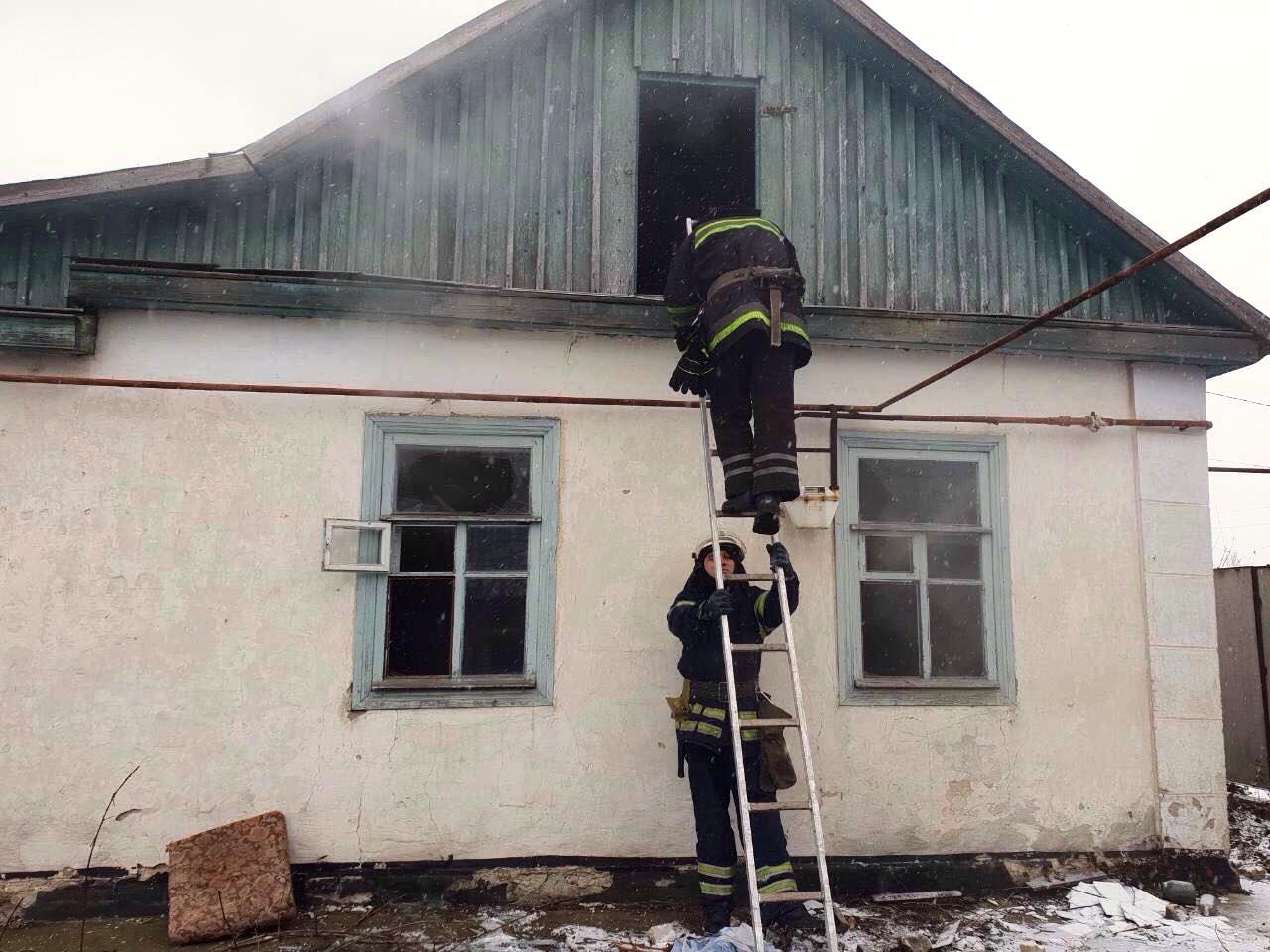 На пожаре