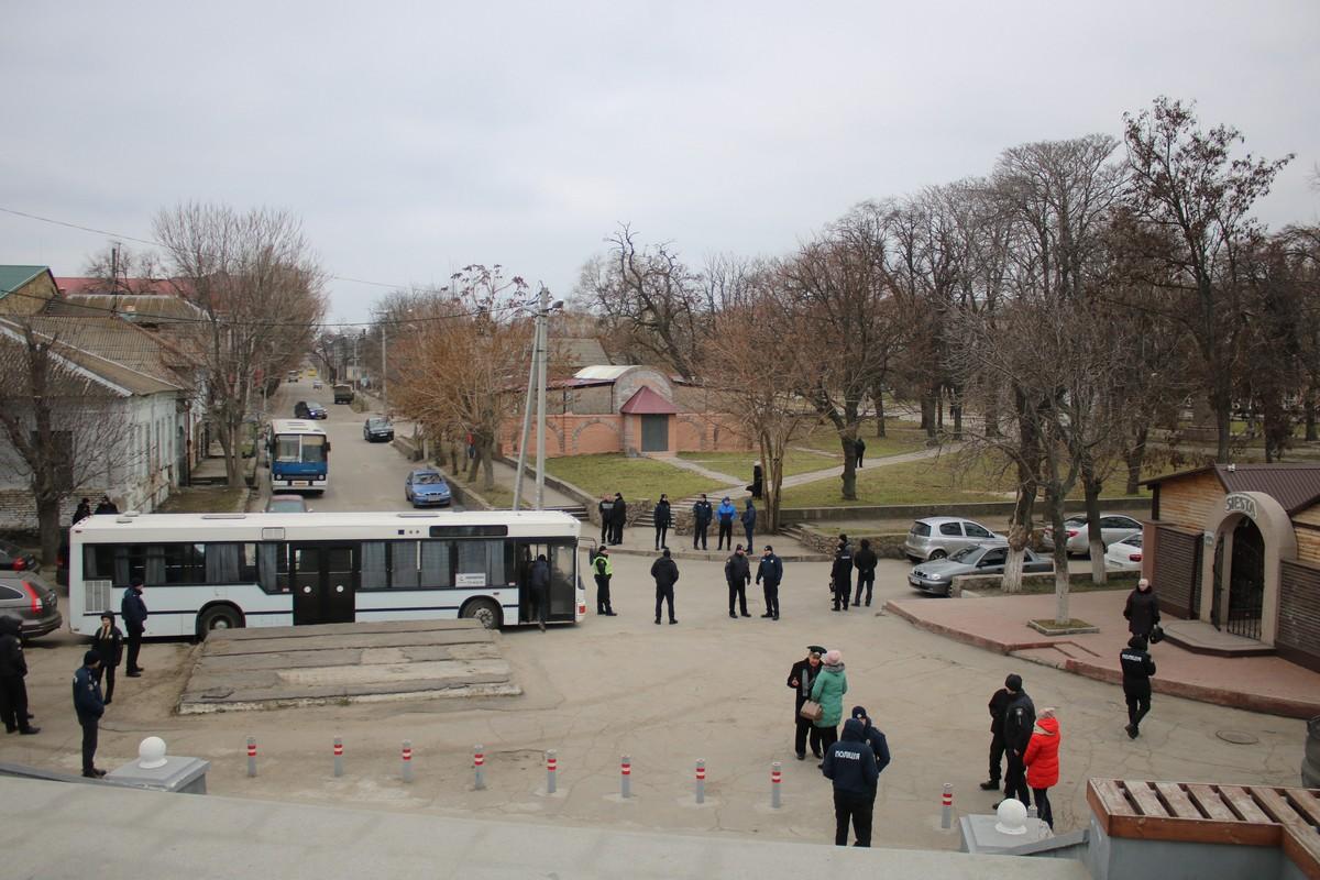 Митинг прошел под охраной полиции