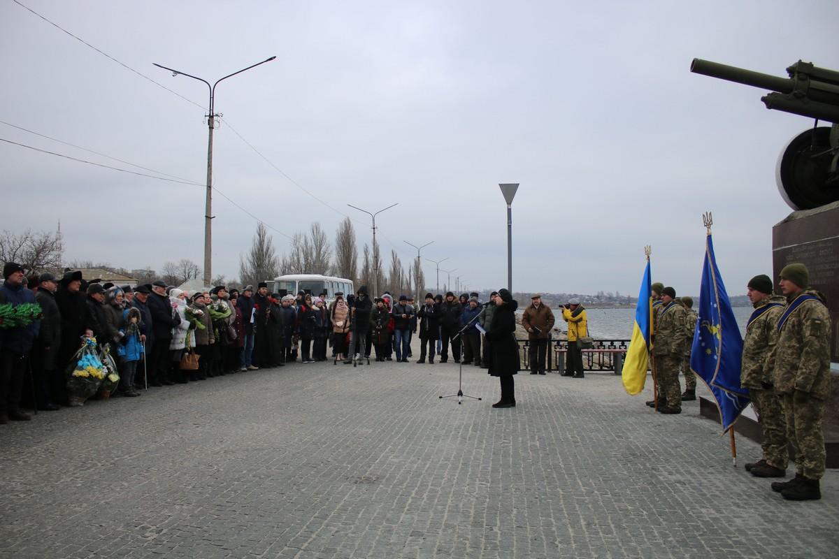 Возле памятного места форсирования реки Днепр, где сегодня стоит памятник «Пушка», прошел общегородской митинг