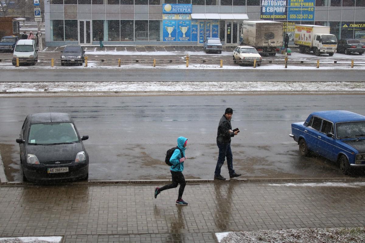 В Никополь снова пришла зима