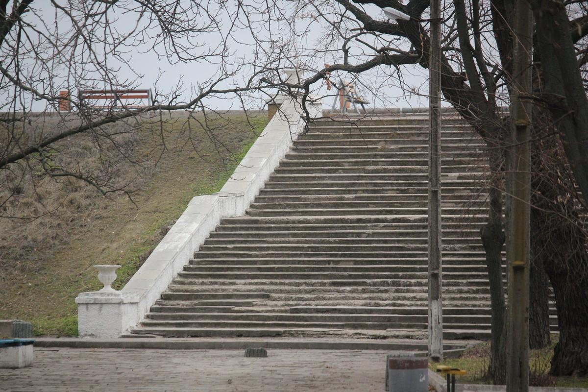 Эта лестница может выглядеть по другому