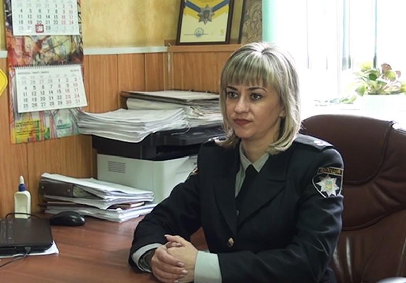 Старший оперуполномоченный отдела криминальной полиции Никополя Юлия Егорова