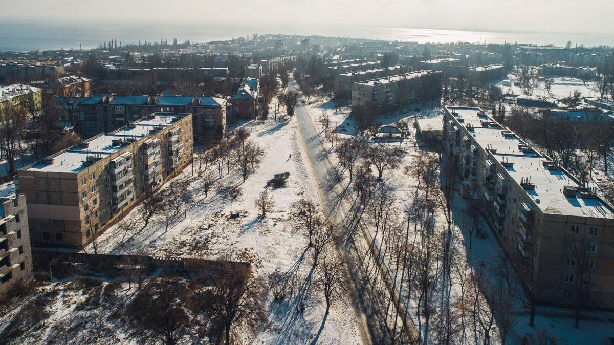Заснеженные улицы города