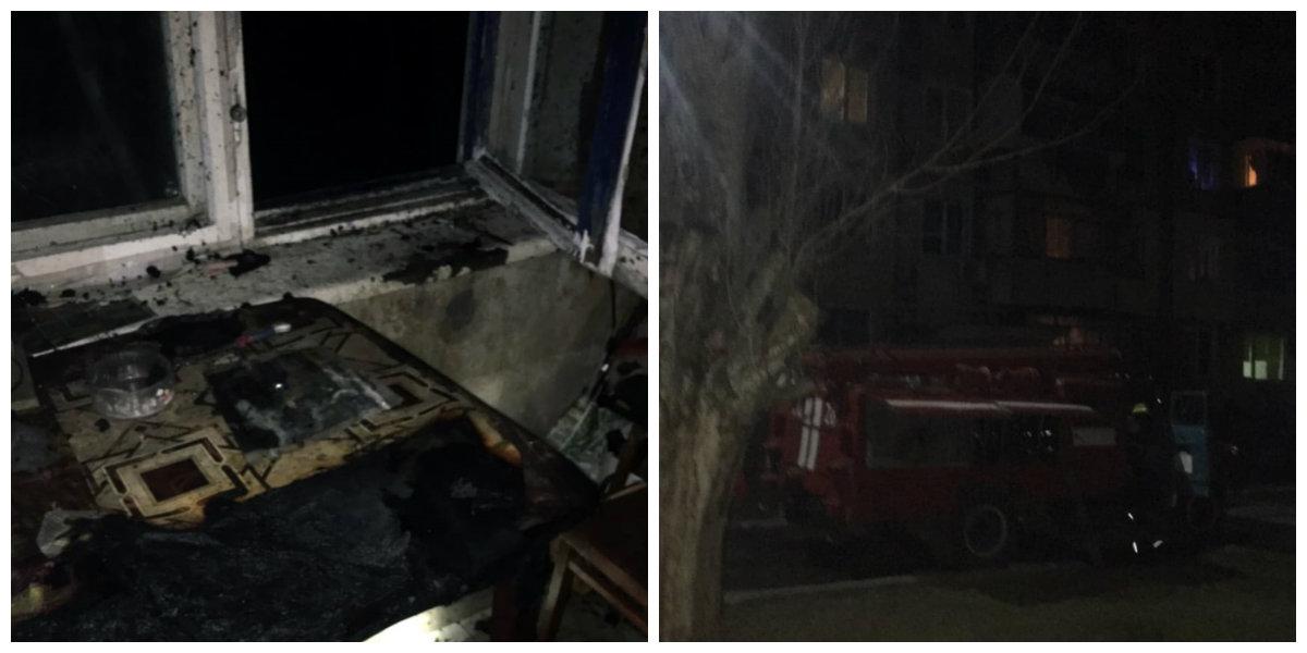 Из горящей квартиры на улице Светлой спасли мужчину