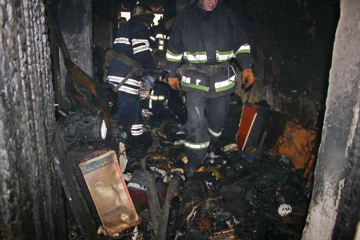 Комната, где произошло возгорание и находился мужчина