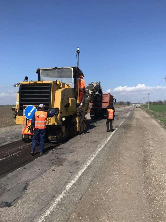 Начат текущий средний ремонт на автомобильной дороги Никополь-Днепр