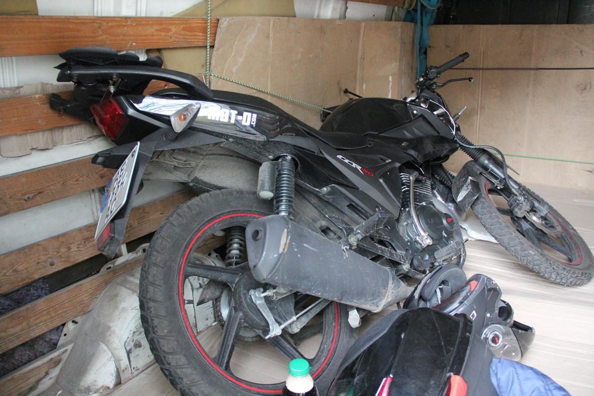 Мотоциклист в сознании, его госпитализировали