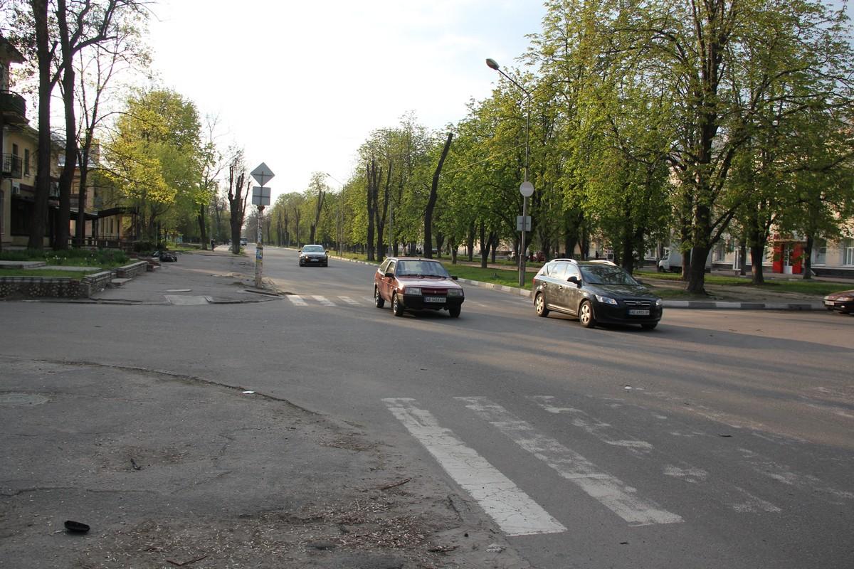 Перекресток проспекта Трубников и улицы Миронова