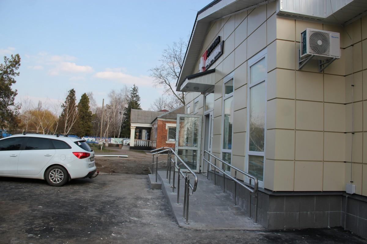 Здание доступно людям с ограниченными возможностями