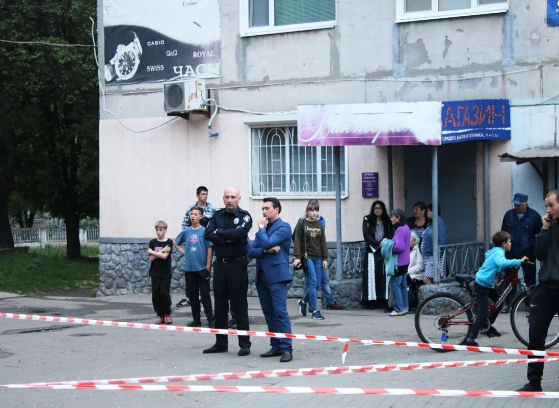 Начальник полиции Никополя Андрей Бидыло прибыл на место трагедии