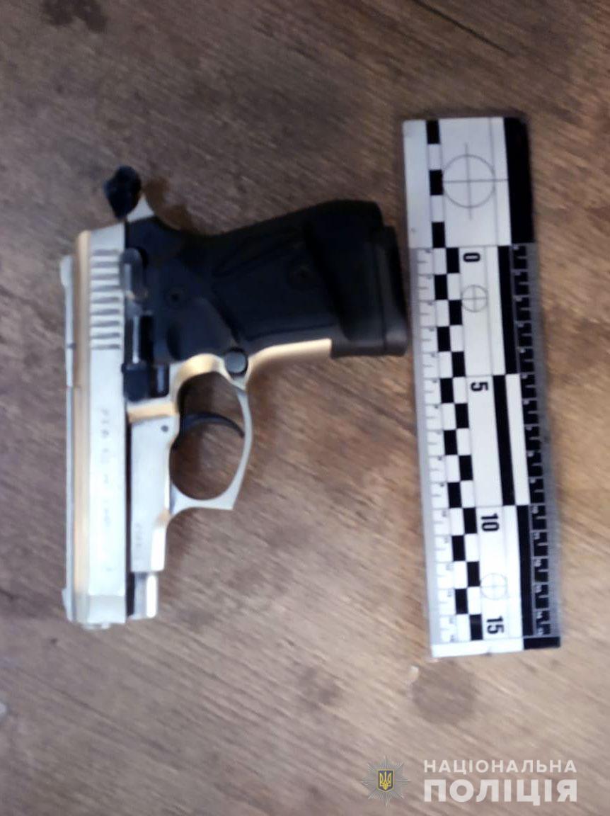 Стартовый пистолет переделанный под травматический