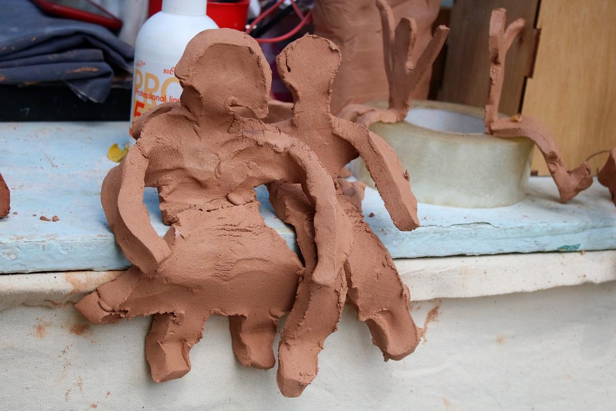Вот такие человечки украсят одну из скульптур