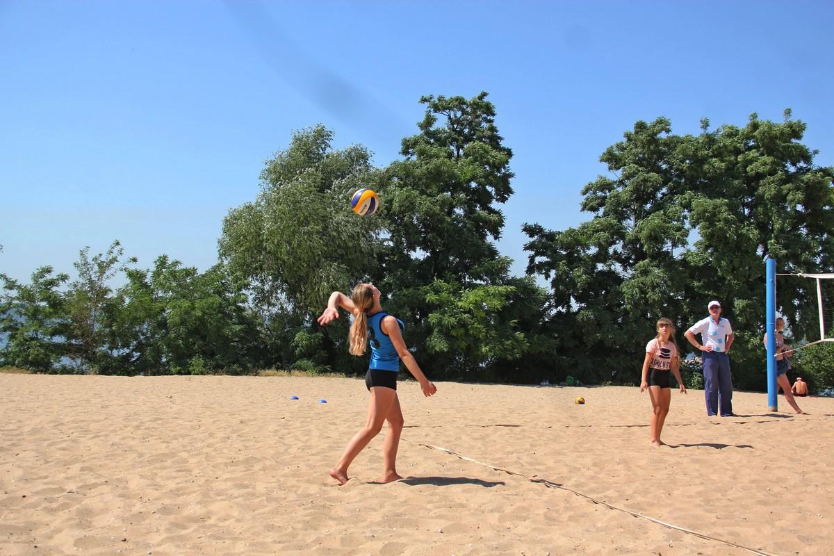 Игра по правилам пляжного волейбола