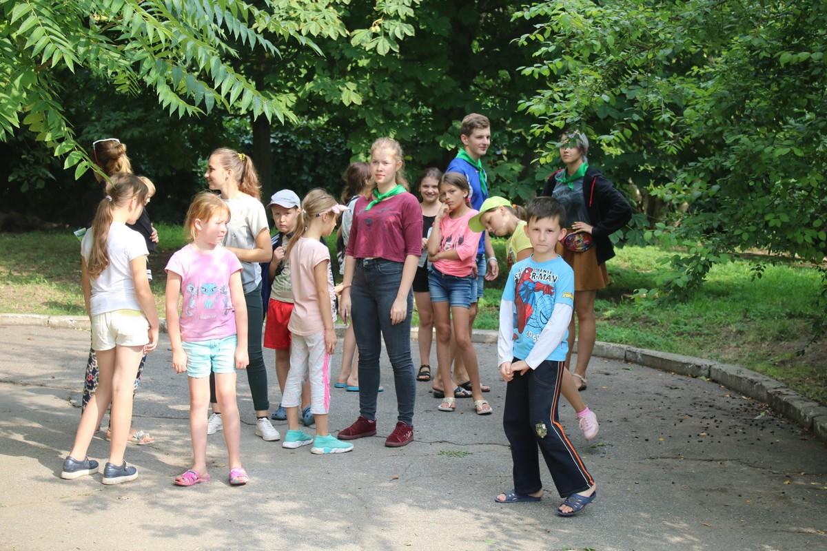 Воспитанники детского лагеря