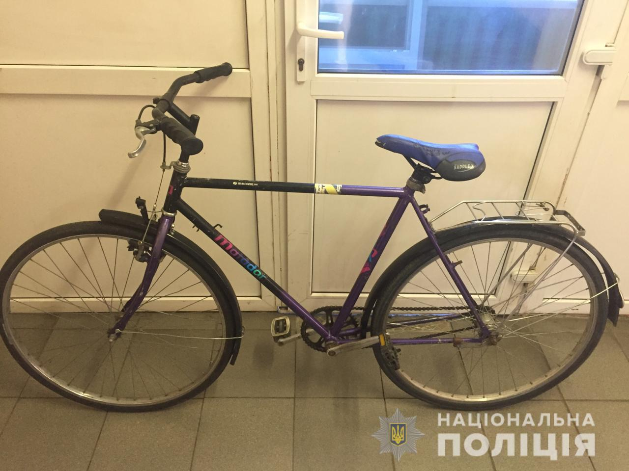В Никополе полиция нашла украденный велосипед