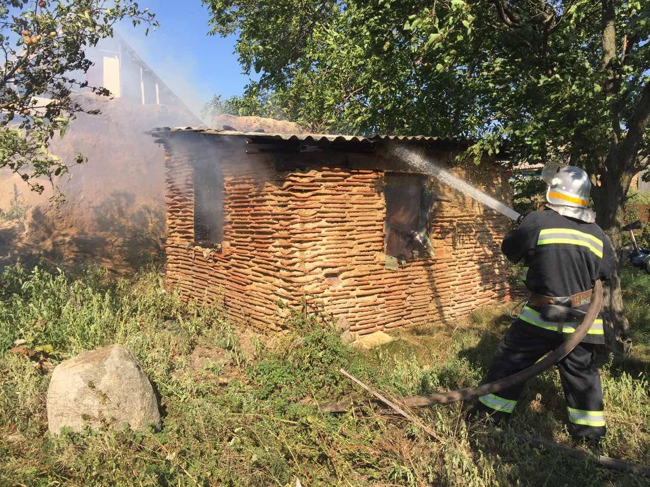 В результате пожара никто из людей не пострадал